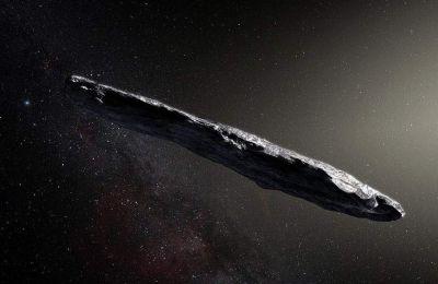 Ο κομήτης είναι ένα ασυνήθιστα επίμηκες καφεκόκκινο σώμα μήκους περίπου 800 μέτρων
