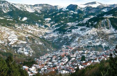 Πανοραμική άποψη του χωριού Μέτσοβο