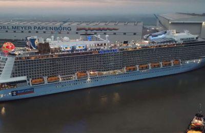 Το κρουαζιερόπλοιο, το οποίο μεταφέρει 3.000 επιβάτες, παραδόθηκε στην εταιρεία στις αρχές Απριλίου
