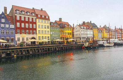 Άποψη του συννεφιασμένου Nyhavn
