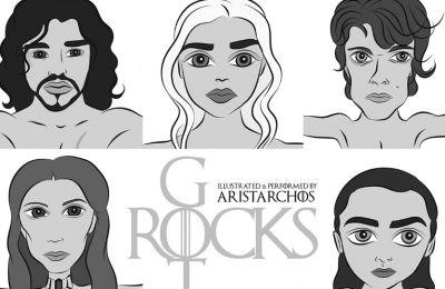 Με το σύνθημα «GOT Rocks» οι φιγούρες με εναρμονισμένη μουσική υπόκρουση το «The Rains of Castamere» σε ροκ διασκευή