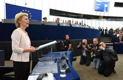 Παρουσίασε το όραμά της, νοιώθοντας περήφανη γιατί επιτέλους μια γυναίκα είναι υποψήφια για την προεδρία Κομισιόν
