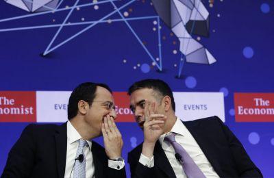 Ο υπουργός Εξωτερικών της Κύπρου, Νίκος Χριστοδουλίδης συνομιλεί με τον υπουργό Εξωτερικών της Βόρειας Μακεδονίας, Nikola Dimitrov