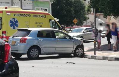 Σύμφωνα με την Αστυνομία το τροχαίο δεν ήταν σοβαρής μορφής, παρά την παρουσία ασθενοφόρου