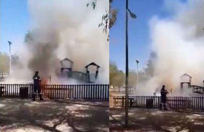 Για την κατάσβεση της πυρκαγιάς εργάστηκαν ένα πυροσβεστικό όχημα του Τμήματος Δασών καθώς και ένα πυροσβεστικό όχημα της Πυροσβεστικής Υπηρεσίας