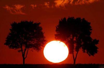 Ηλιοβασίλεμα κοντά στο Καμπρέ, Γαλλία
