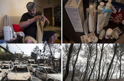 Ένα χρόνο μετά τη μεγάλη φωτιά στην Ανατολική Αττική η περιπέτειά του δεν έχει τελειώσει