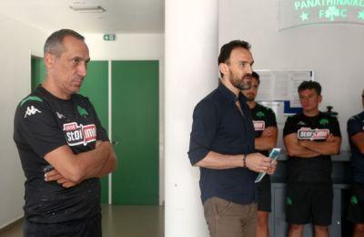 Ο Κώστας Κασταμονίτης από τη Δευτέρα είχε τετ-α-τετ με ποδοσφαιριστές του τριφυλλιού