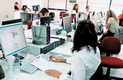 Τα μεγαλύτερα ποσοστά παρατηρούνται στους Τομείς των Διοικητικών και Υποστηρικτικών Δραστηριοτήτων
