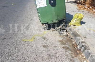 Φωτογραφίες που εξασφάλισε η «Κ» παρουσιάζουν την υφιστάμενη κατάσταση των πεζοδρομίων