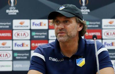Ο προπονητής του ΑΠΟΕΛ προσεγγίζει με απόλυτη σοβαρότητα το αυριανό παιχνίδι με την Ντουντελάνζ