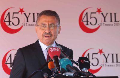 Μιλώντας σε συνέδριο στην Άγκυρα για το Κυπριακό, δήλωσε πως «η ε/κ πλευρά νομίζει πως είναι ο μοναδικός ιδιοκτήτης των φυσικών πηγών της υφαλοκρηπίδας του νησιού»