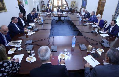 Ο Πρόεδρος της Δημοκρατίας ενημέρωσε και για τις κινήσεις Λουτ ενόψει τριμερούς