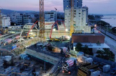 Νέο εντυπωσιακό βίντεο από τη σκυροδέτηση του θεμελίου  του East Tower στο Trilogy Limassol Seafront