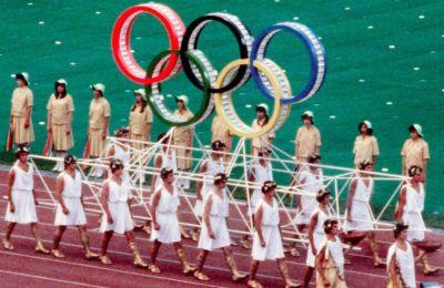 Από την τελετή έναρξης των Ολυμπιακών αγώνων της Μόσχας
