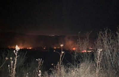 Φωτογραφία από την πυρκαγιά το βράδυ της Κυριακής, από την σελίδα «Καιρόφιλοι Κύπρου»