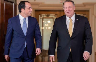 Σε σχέση με το Κυπριακό, ο κ. Χριστοδουλίδης χαρακτήρισε σημαντική τη στήριξη των ΗΠΑ στην προσπάθεια που βρίσκεται σε εξέλιξη