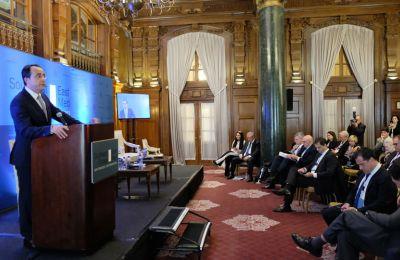 Ο ΥΠΕΞ εξήγησε στο ακροατήριο πώς η Κύπρος προωθεί το ενεργειακό της πρόγραμμα