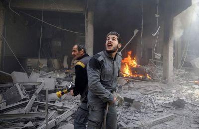 Επιπλέον, «ρωσικά πολεμικά αεροσκάφη» έπληξαν την πόλη Μααρέτ αλ Νουμάν στην νότια Ιντλίμπ