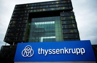 H τιμή της μετοχής του ομίλου Thyssenkrupp υποχώρησε 13%.