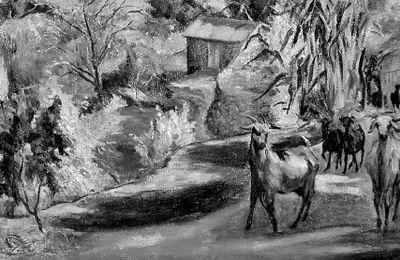 Το έργο του Σολωμού Φραγκουλίδη «Τοπίο στον Αγρό»