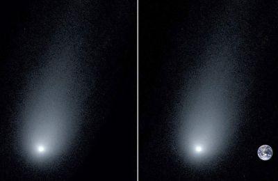 Όσο ο κομήτης πλησιάζει τη Γη και τον Ήλιο, απελευθερώνει περισσότερα αέρια και σκόνη στην ουρά του.