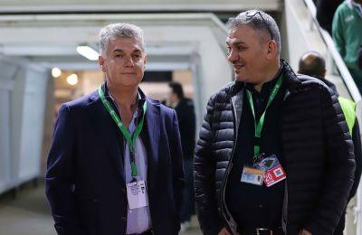 Σταύρος Παπασταύρου και Δημήτρης Γρηγόρη σε στιγμιότυπο από το ντέρμπι