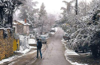 Ο χειμώνας έντυσε στα λευκά τη Βόρεια Ελλάδα