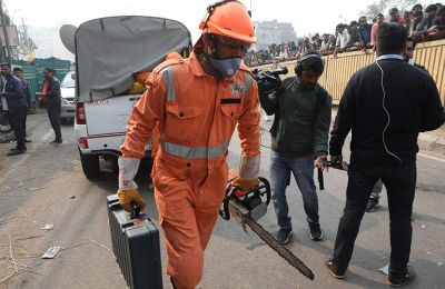 Σε παλιά συνοικία του Νέου Δελχί σημειώθηκε το περιστατικό