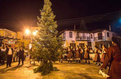 Το Νεοχώρι, γνωστό και ως το πιο κρύο μέρος της Χαλκιδικής, φέτος τον Νοέμβριο διοργάνωσε την πρώτη του ελατογιορτή. (Φωτογραφία: ΚΛΑΙΡΗ ΜΟΥΣΤΑΦΕΛΛΟΥ)