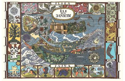Η νήσος Danseuse. Αναδύθηκε το 1981, 324 χλμ. από την ηπειρωτική Ελλάδα και έκτοτε το νησί συνεχίζει να μεγαλώνει