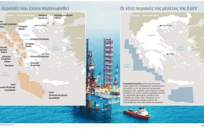 Η περιοχή στην οποία αναφέρεται η μελέτη της ΕΔΕΥ γειτνιάζει τουλάχιστον με τις περιοχές που καλύπτει η άκυρη συμφωνία Αγκυρας - Τρίπολης