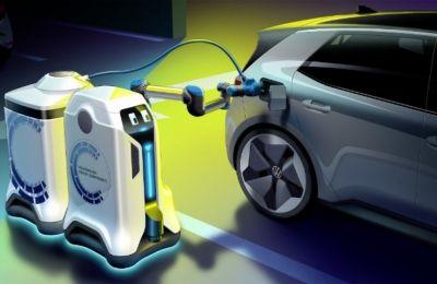 Το ρομπότ είναι συνδεμένο με μία συσκευή αποθήκευσης ενέργειας, που θα μπορούσε να χαρακτηριστεί και ως ένα όχημα μπαταρίας