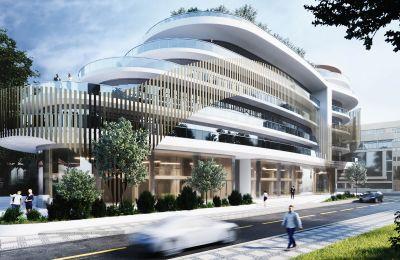 Το συνολικό εμβαδόν της ανάπτυξης είναι στα 12 χιλιάδες τετραγωνικά μέτρα και θα περιλαμβάνει γραφεία, καφετέριες, εστιατόρια και εμπορικούς χώρους.