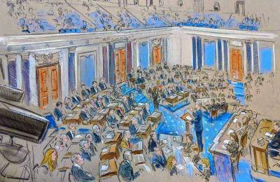 Δεύτερη μέρα της επίσημης διαδικασίας της δίκης του προέδρου των ΗΠΑ Ντόναλντ Τραμπ από τη Γερουσία