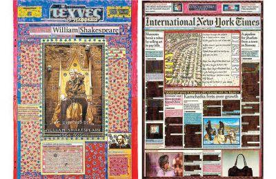 Η έκθεση, με αντικείμενο τις εφημερίδες, έχει τίτλο «Dazibao - Handmade newspapers»