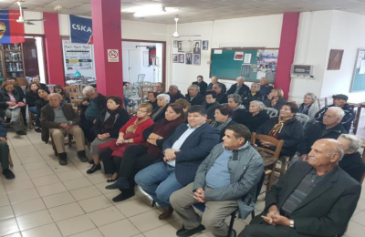 Φωτογραφία από την ετήσια συνέλευση των συνταξιούχων Γερμασόγιας.