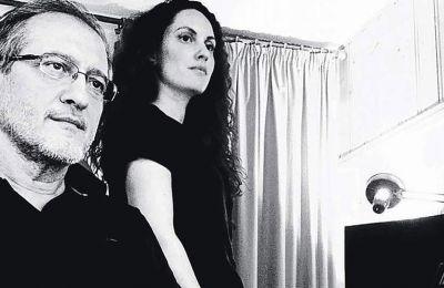 Ο συνθέτης Γιώργος Ανδρέου με την ερμηνεύτρια Κορίνα Λεγάκη.