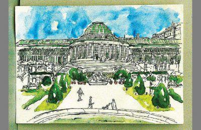 Ο βοτανικός κήπος των Βρυξελλών σε ένα από τα έργα του Πάβλου Χαμπίδη στο Γαλλικό Ινστιτούτο Αθηνών