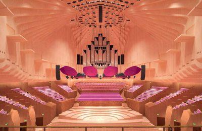 Το κτίριο της όπερας, με τα χαρακτηριστικά πτερύγια, ήταν ανοικτό και σε λειτουργία 365 ημέρες τον χρόνο, φιλοξενώντας χιλιάδες εκδηλώσεις στα πέντε θέατρα που αποτελούν το αρχιτεκτονικό συγκρότημα