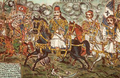 Θεόφιλος, Ο ήρωας Γεώργιος Καραϊσκάκης στη μάχη με τον Κιουταχή, 1928-1930