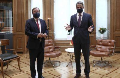 Στην συνάντηση με τον βαυαρό Πρωθυπουργό, Άρμιν Λάσετ, ο κ. Μητσοτάκης συζήτησε και την τουρκική προκλητικότητα.