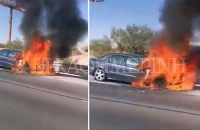 Φωτιά σε αυτοκίνητο πριν την έξοδο των Λατσιών