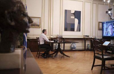 «Εάν η Τουρκία συνεχίσει να παραβιάζει κυριαρχικά δικαιώματα της Ελλάδας και της Κύπρου, η Ε.Ε. πρέπει να αντιδράσει», δήλωσε ο κ. Μητσοτάκης. Φωτογραφία: «Η Καθημερινή» Ελλάδος