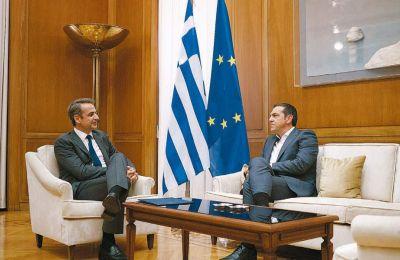 """«Αυτό που μας απασχολεί δεν είναι η ποιότητα των τουρκικών ερευνών, αλλά το γεγονός ότι το """"Ορούτς Ρέις"""" παραβιάζει κυριαρχικά δικαιώματα της πατρίδας μας», ανέφερε ο Αλ. Τσίπρας"""