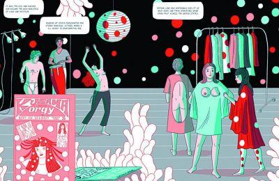 Μία σελίδα από το «Kusama: The Graphic Novel» της Ελίζα Ματσελάρι