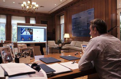 O Έλληνας πρωθυπουργός παρουσίασε βίντεο από τη δομή που στήθηκε μέσα σε λίγες μέρες στο Καρά Τεπέ.