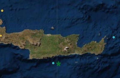 Αναλυτικός χάρτης με το σημείο του σεισμού