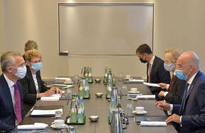 Η συζήτηση επικεντρώθηκε στην κατάσταση στην Ανατολική Μεσόγειο, καθώς και στις διεργασίες για την θέσπιση ενός μηχανισμού αποκλιμάκωσης της έντασης.