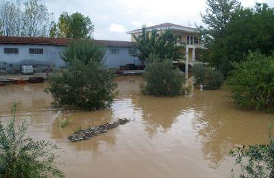 Φωτογραφία από τις πλημμύρες στην Καρδίτσα (φωτο: ΚΥΠΕ)